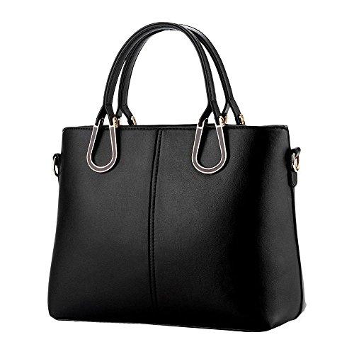 Koson-Man-Borsa Vintage da donna, borsetta per impugnatura, nero (Nero) - KMUKHB261