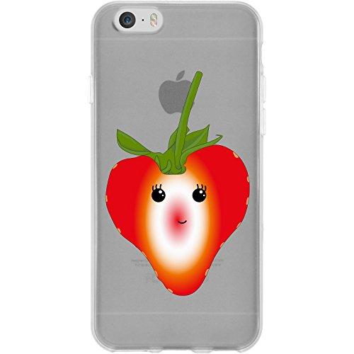 PhoneNatic Case für Apple iPhone 6s / 6 Silikon-Hülle Sommer Ananas M1 Case iPhone 6s / 6 Tasche + 2 Schutzfolien Motiv 4: Erdbeere
