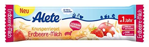 Alete Knusperriegel Erdbeere-Milch, 18er Pack (18 x 25 g)