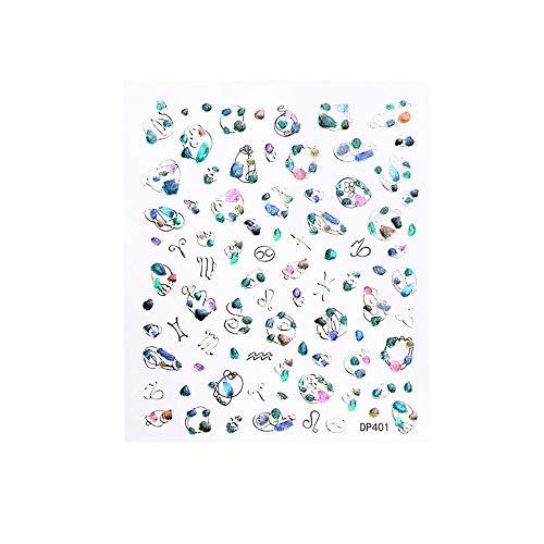 Reasoncool 3D Nail Sticker Aufkleber Weihnachten Serie Hot Stamping Applique Nette Frauen Geschenke