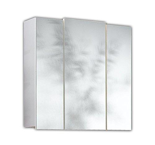 #Posseik 5484-76 Spiegelschrank 3-türig, 68 x 71 x 20 cm, weiß#