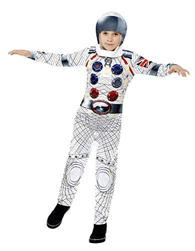 Kostüm Traveller World - Childrens Boys Girls Deluxe Astronaut Space Traveller Spaceman TV Book Film World Book Day Fancy Dress Costume Outfit 4-12 Years (10-12 Years)
