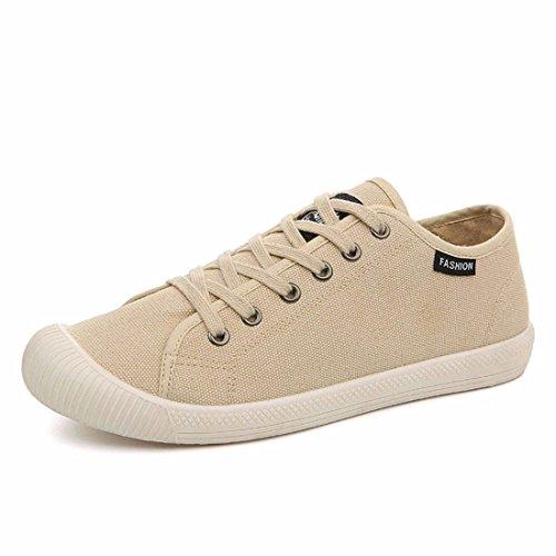Men's Zapatillas Vintage Lace Up Casual Canvas Shoes 4