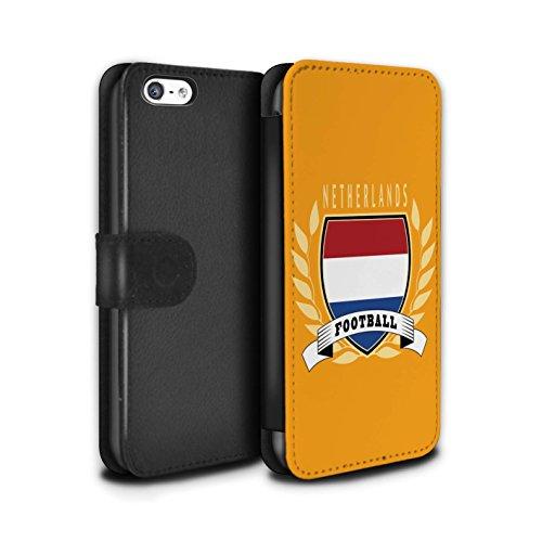 Stuff4 Coque/Etui/Housse Cuir PU Case/Cover pour Apple iPhone 5C / Brésil/Brésilien Design / Emblème Football Collection Pays-Bas