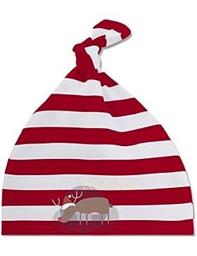 Weihnachten Baby - Schöne Weihnachten Elch Weihnachtsmütze - gestreifte Baby Mütze mit Knoten / Bommel für Jungen...