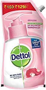 Dettol Skincare pH Balanced Liquid Handwash Refill Pouch - 800 ml (Buy at Rupees 129)