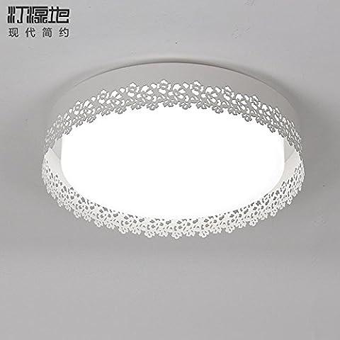 Cttsb Chambres chaleureuses lumière plafonnier rond chambre des maîtres de la chambre restaurant minimaliste moderne lampes LED d