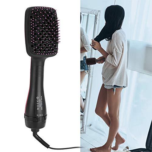 Cepillo de aire caliente, secador de cabello iónico 2 en 1, alisado multifuncional portátil y cepillo...
