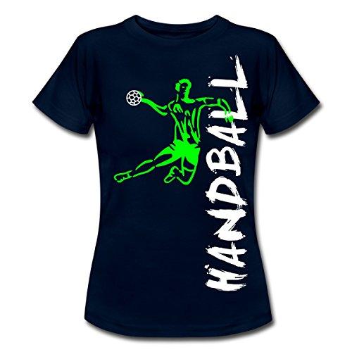 Handball Frauen T-Shirt von Spreadshirt®, L, Navy