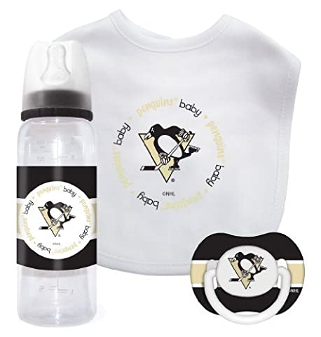 NHL Pittsburgh Penguins Baby Gift Set by Mustang Drinkware