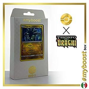 Zygarde 49/70 Holo Reverse - #myboost X Sole E Luna 7.5 Trionfo dei Draghi - Box de 10 Cartas Pokémon Italiano