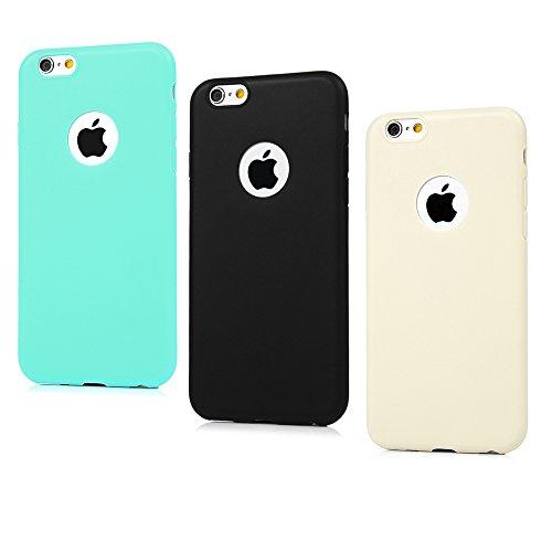 iPhone 5/5S/SE Soft Case iPhone 5/5S/SE Schutzhülle YOKIRIN TPU Silikon Case Cover Handyhülle Candy Farben Hülle Etui Handycase Silikonhülle Protective Shell Handytasche(Mintgrün) Farbe 3