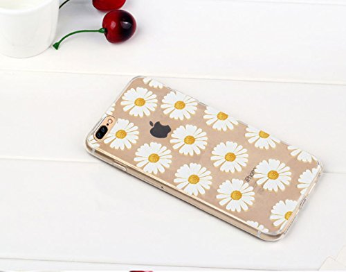 iPhone 7 Plus Custodia (5.5) , Bonice iPhone 7 Plus Cover, Trasparente Morbido Ultra Slim Thin Crystal Clear Cover + 1x Protezione Schermo Screen – Coccinella Model 6