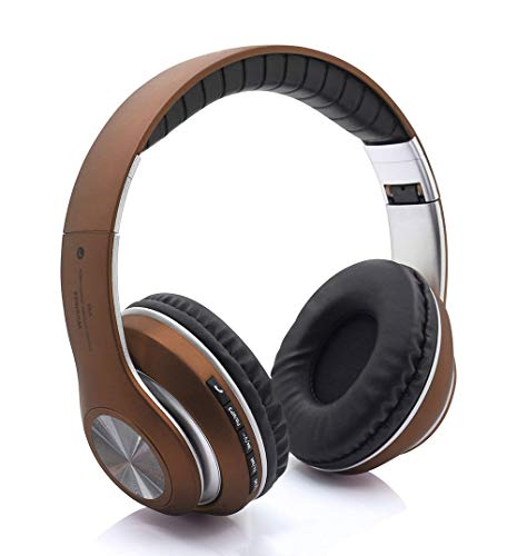 H&T Bluetooth Kopfhörer, Over Ear Wireless Faltbares Headset mit Mikrofon und Lautstärkeregler für Mobiltelefone iPad iPhone TV Laptop,D Over-ear Hands Free-headset