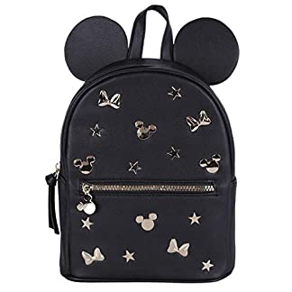 -:- Minnie Mouse -:- Disney -:- Mochila negro y dorada