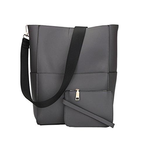 DISSA VS857 neuer Stil PU Leder Deman 2018 Mode Schultertaschen handtaschen set,320×123×300(mm) Grau