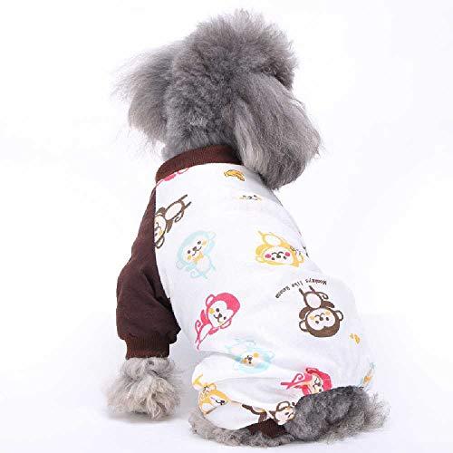 Jieyouzahuopu Grenzüberschreitende Haustierkleidung Hundekleidung Baumwolle Vier-Fuß-Pyjama Gestrickte Haustierkleidung Hauskleidung Pyjama M -