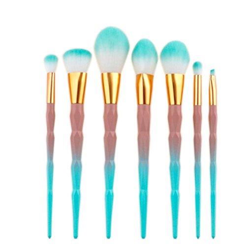 Sansee 7 Pcs Brosse de Maquillage de Diamant Set Dazzle Paillettes Big Fish Tail Fondation Brosses Pinceaux Cosmétique Pinceaux de Maquillage