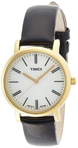 Timex Damen-Armbanduhr XS Originals Classic Round Analog Quarz Leder T2P371