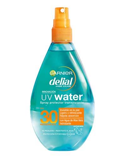 Garnier Delial Spray Protector Transparente UV Water Alta Protección, Cuerpo y Rostro IP30+- 150 ml