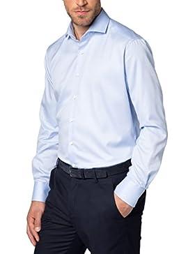 ETERNA Langarm Hemd MODERN FIT Fantasiebindung strukturiert