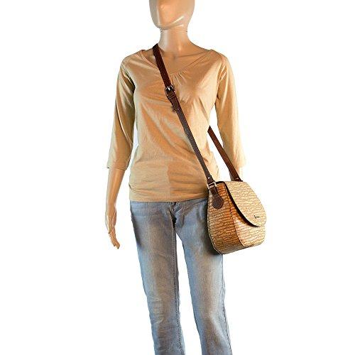Saddle Bag for Women Leather Free Handbag Cross-Body Woman Vegan Cork Brown Tree - 2