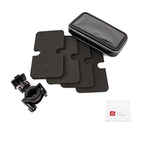 Fahrrad-Halterungs-Vorrichtungen mit kapazitiver Schutztasche und Reinigungstuch für Garmin Drive 50 / 50LM / 50LMT sowie DriveAssist 50LMT / DriveLuxe 50LMTHD / DriveSmart 50LMT Navigationssysteme