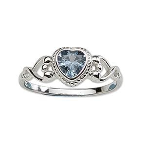 Precious Pieces Ring aus Sterlingsilber, mit Dezember-Geburtsstein aus Zirkonia, für Mädchen und Babys