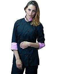 Amazon.it  donna - Nero   Abbigliamento da lavoro e divise ... 0be232118658