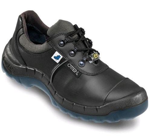 OTTER 93619 Sicherheitsschuh ESD S3 Sicherheitsschuhe Arbeitsschuh Flach schwarz, Größe:38