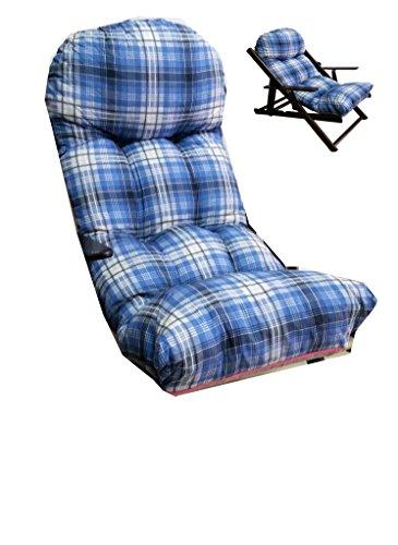 Liberoshopping Coussins Coussin Super rembourré de Rechange pour Fauteuil Chaise Longue Relax Tissu Coton azzurrino