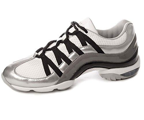 Bloch S0523 Wave Tanz Sneaker, Silber EU 41, UK Ad 8, US 11