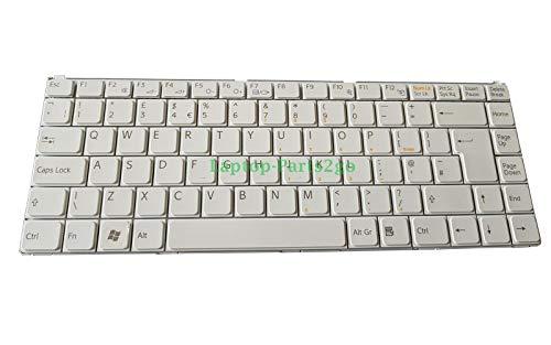 TB K070278B1 Ersatz-Tastatur für Sony Vaio WVGN-N11M Laptop-Tastatur, UK-Layout, Weiß - Vaio Sony Weiß Laptop