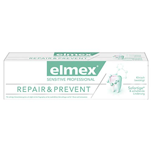 Elmex SENSITIVE PROFESSIONAL REPAIR & PREVENT Zahnpasta, 2er Pack (2 x 75 ml) -