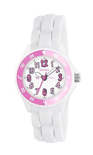 Tikkers Mdchen Analog Quarz Uhr mit Silikon Armband TK0117 -