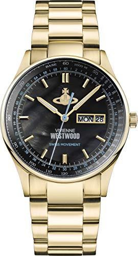 Vivienne Westwood Cranbourne Black Dial Gold Orologio da uomo VV207BKGD