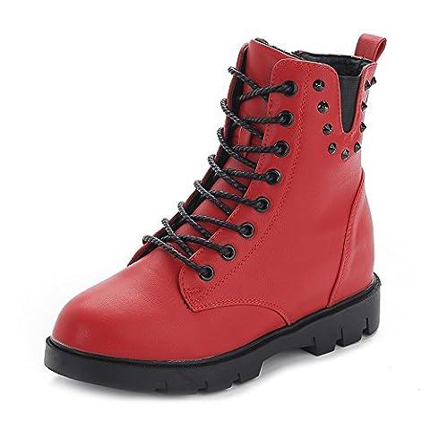 SHOESHAOGE Women'S Shoes Plus Plush Warm Side Zipper Martin Boots Boots Female Boots-Eu39 Women'S Shoes