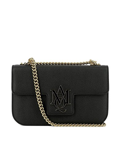 alexander-mcqueen-womens-439445dn10g1000-black-leather-shoulder-bag