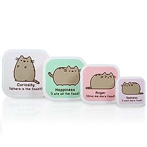 Thumbs Up Pusheen-Snack Box Set, Multi, 12 x 12 x 5.5 cm