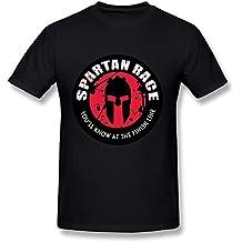 anskan hombre Spartan Race Logo camiseta de manga corta DeepHeather