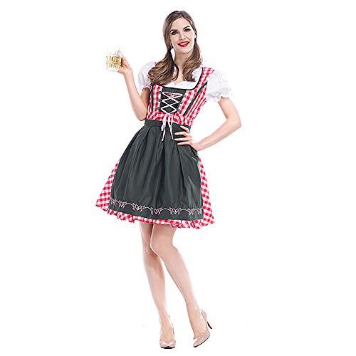 CHIYEEE Damen Qualität Robin Hood Oktoberfest Bier Maid Kostüm