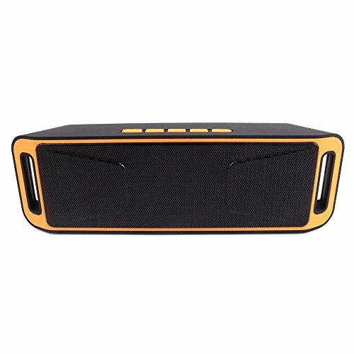 Detome Bluetooth Lautsprecher Radio Bluetooth Lautsprecher Subwoofer portable Mini Stereo Sound, Orange