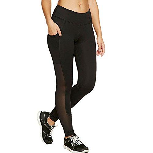 Libertepe Damen Yoga Mesh Legging Ladies Stripe lange Laufhose Trainingshose für Sport und Freizeit Running Hosen casual pants Workout