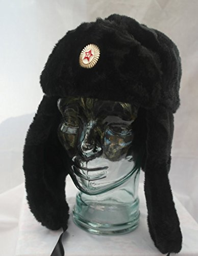 Russian style ushanka trapper bomber hat - Size 60cm ( Large / X Large)