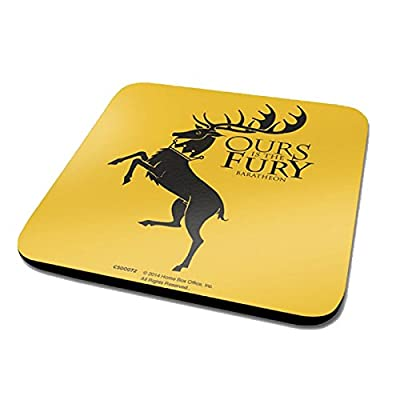 Game Of Thrones House Baratheon Logo Official New Yellow Coaster (10cm x 10cm)