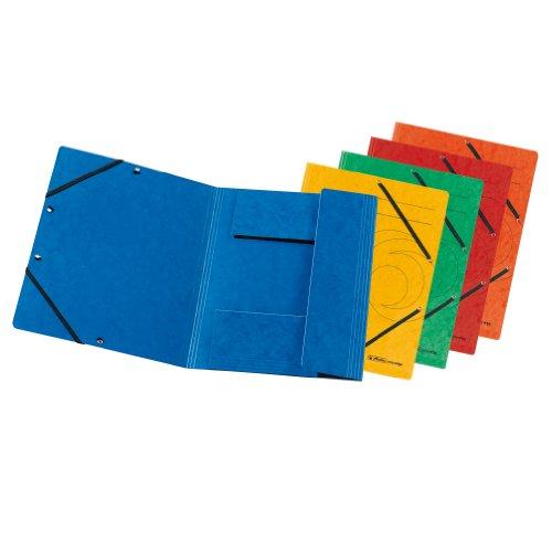 Herlitz Einschlagmappe mit Gummi, A4, 10er