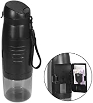 Sports Water Bottle with Storage Compartment and Detachable String – Flip Top 750 ml Reusable Travel Bottle Ma