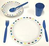 Best Platos para niños - Harfield–plato de policarbonato diamantes de plástico para niños Review
