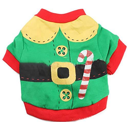 Wilk Weihnachts-Kostüm für Kleine Hunde, Baumwolle, Größe S, Grün (Hund Weihnachten Kostüm Kostüme)