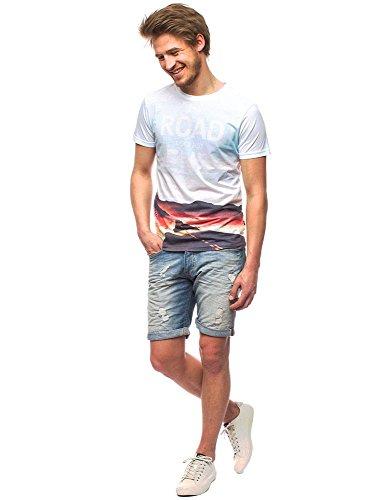 Shine T-Shirt Men 2-40287 Blue Blau